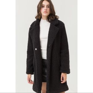 Teddy Bear Coat - Black